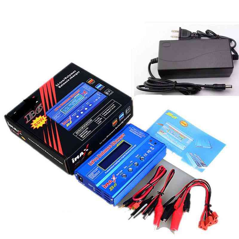 Lipro Battery Balance Charger With 12v 6a Power Adapter And Cables