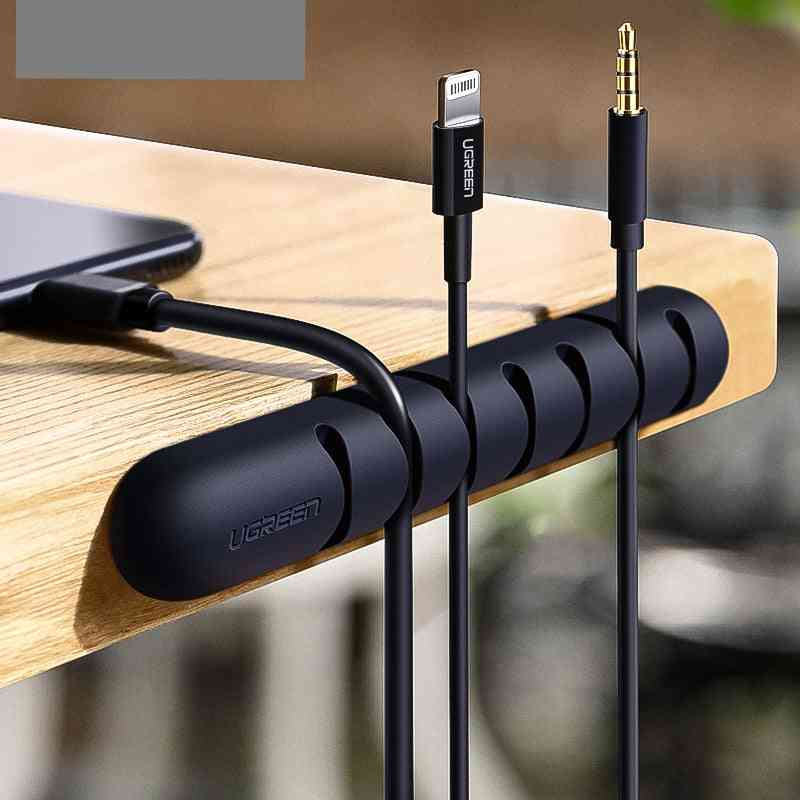 Cable Organizer - Silicone Usb Winder Flexible Management Clips For Mouse Headphone