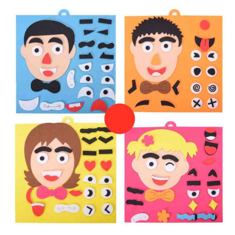 3d Facial Features Puzzles-diy Early Learning Educational For