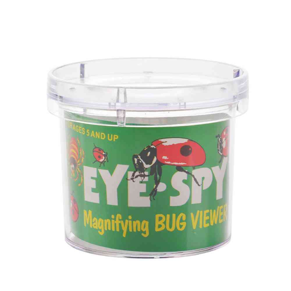 Animal Magnifier Glass Cylindrical Spider Educational Toy - Plastic Bottle Insects Viewer Observation