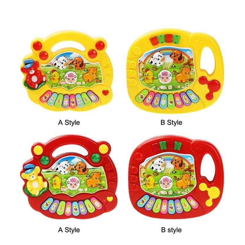 2 Types Farm Animal Sound Kids Piano Music Toy - Musical Animals Sounding Keyboard Piano Baby Playing Type Musical Instruments