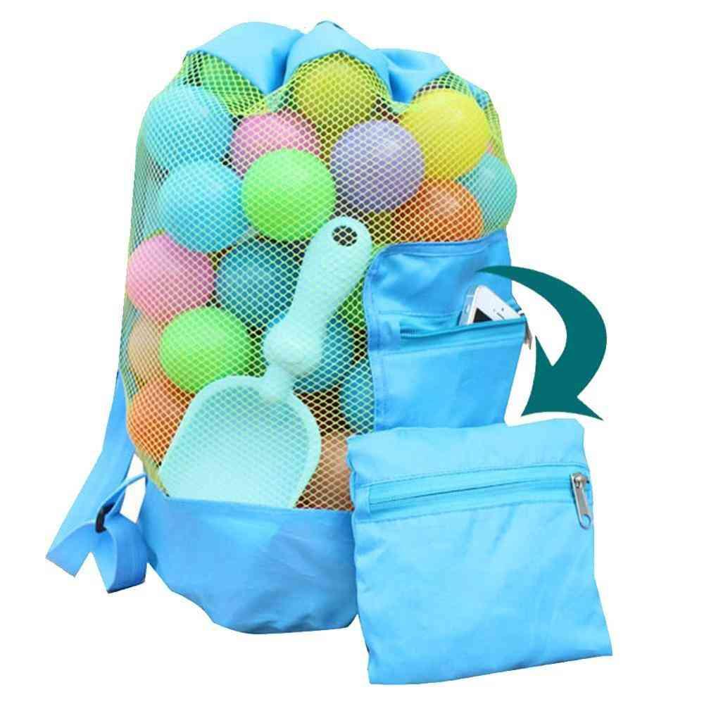 Children's Beach Backpack-mesh Tote Bag, Toy Organizer