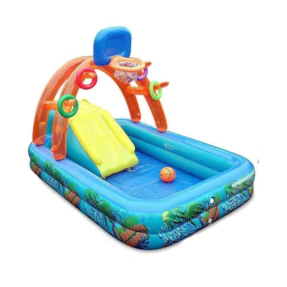 Inflatable Family Swimming Pool With Water Slide