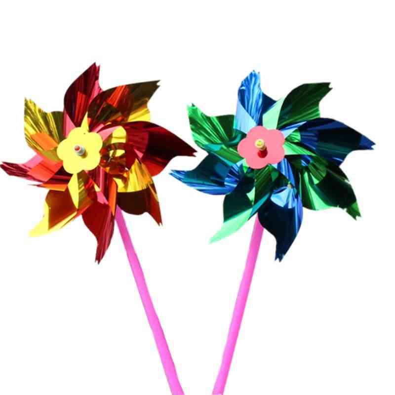 Diy  Pinwheels, Windmill Rainbow Set For Garden Lawn Decor
