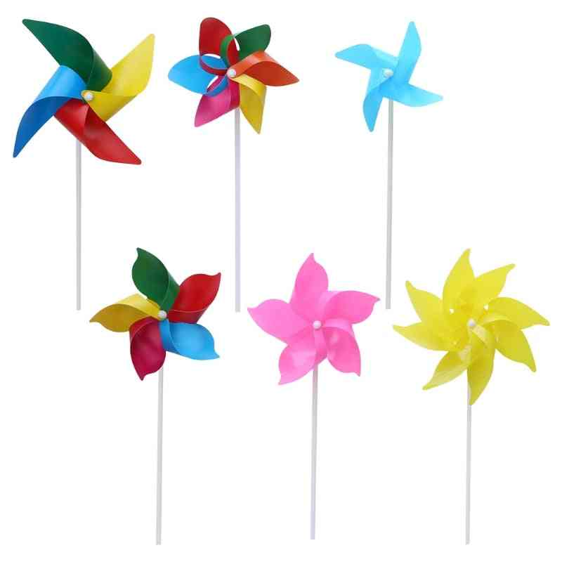 Windmill Pinwheel Wind Spinner - Garden Yard Art Decoration Outdoor