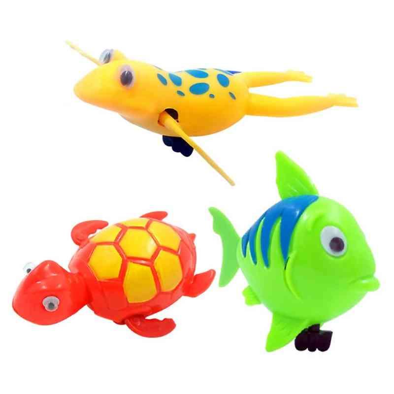Animal Clockwork Bath Toy, Baby Shower Swimming Pool Plastic Water Toy