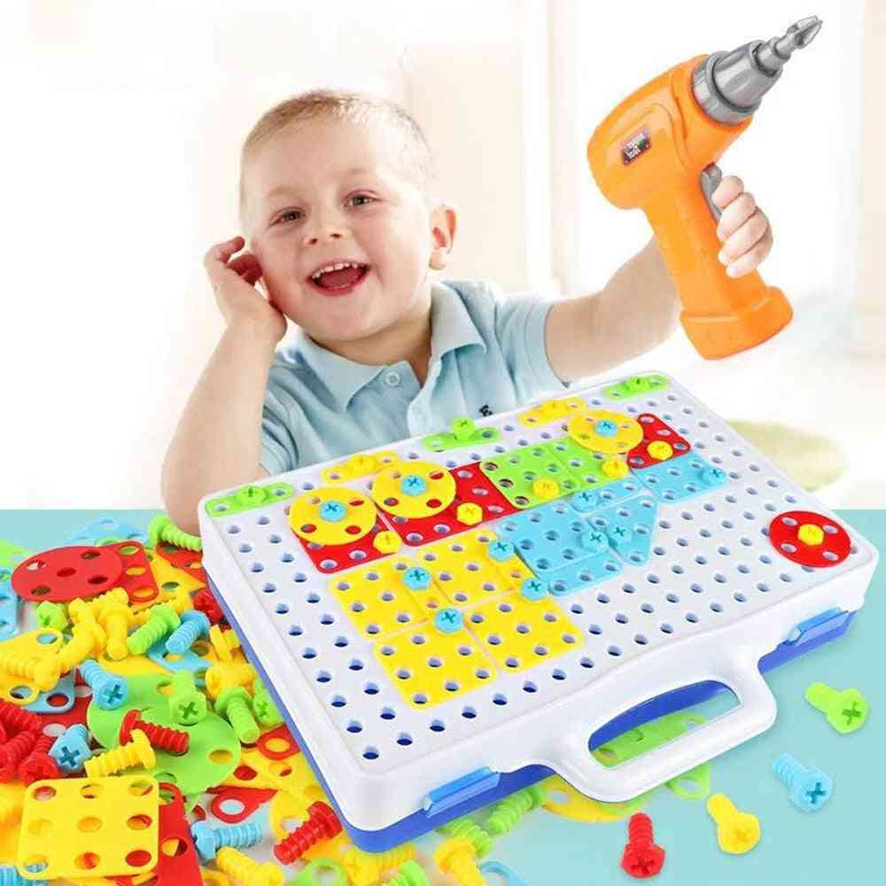 Children's Screw Drill, Puzzle Assembled - Educational Game For Kids