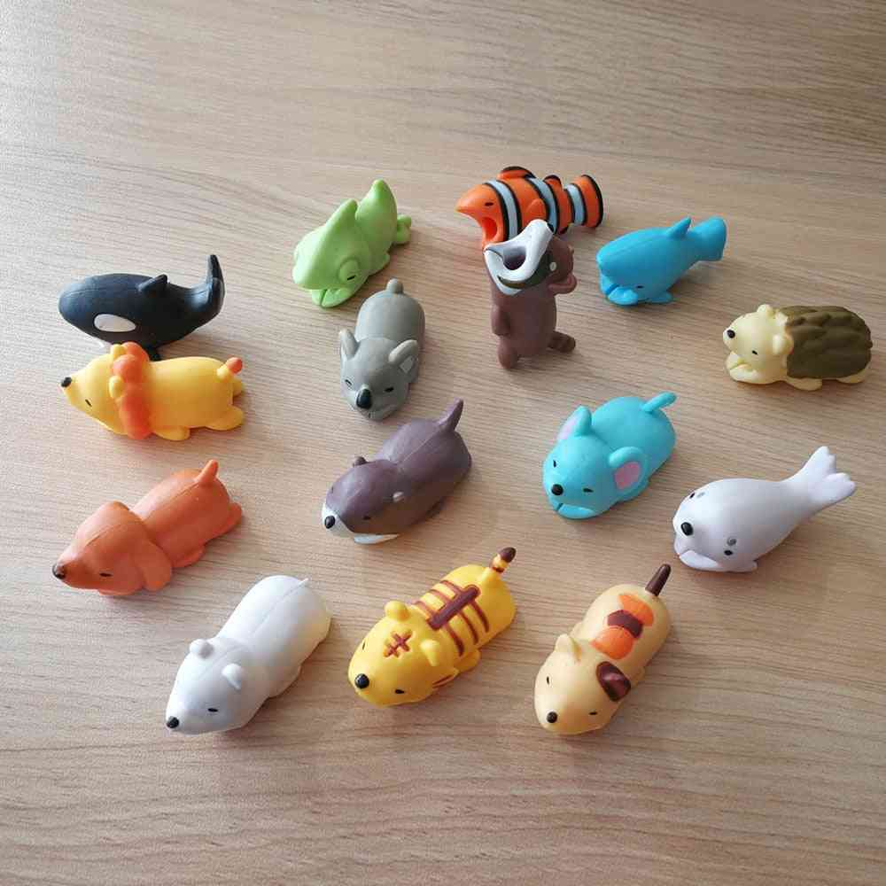 Animal Cute Cartoon Design-usb Cable Protector For Iphone