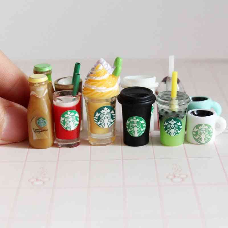 Miniature Dollhouse Coffee Cup, Ice-cream And Drinks For Pretend Play