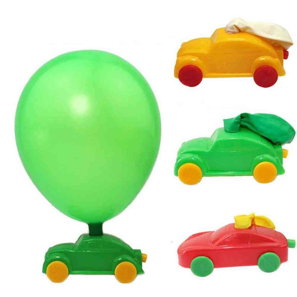 Science Physical Homemade Balloon Car - Diy Plastic Forces