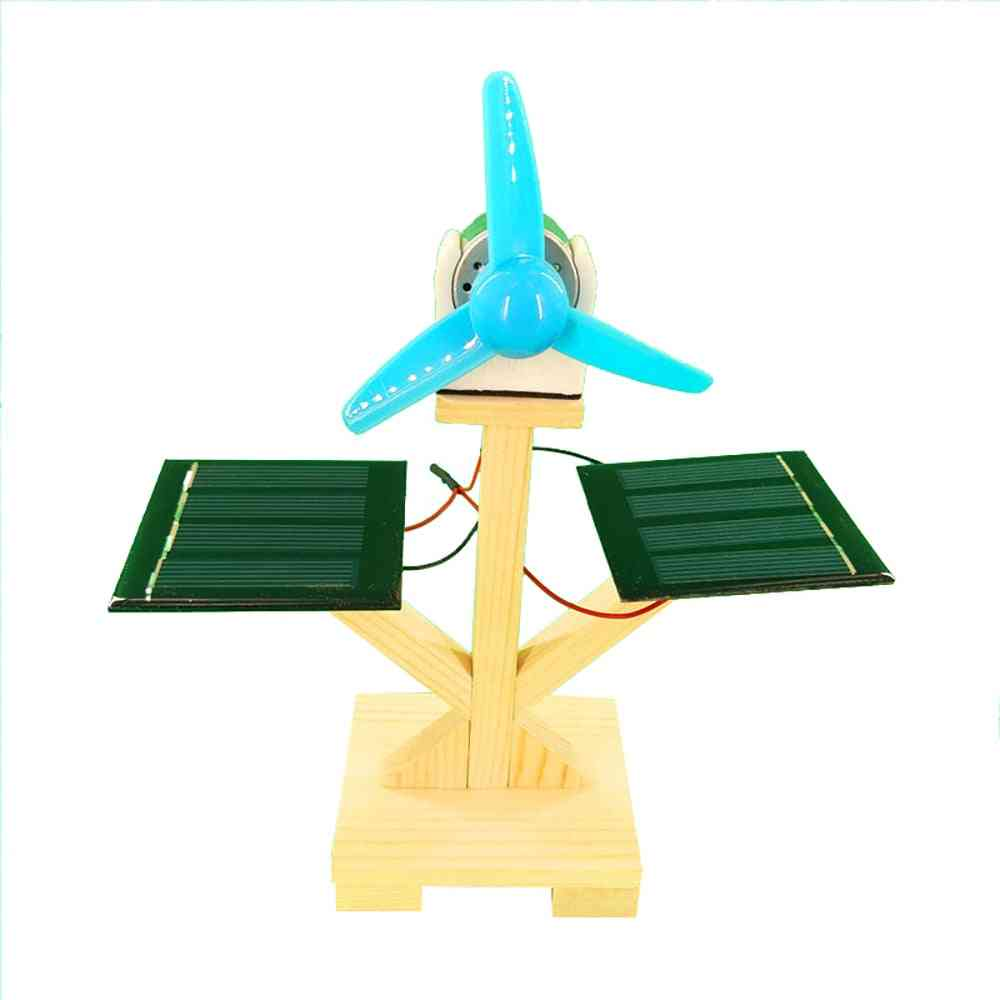 Solar Fan Model Building Material Kits - Hybrid Drive Science Experiment Discovery