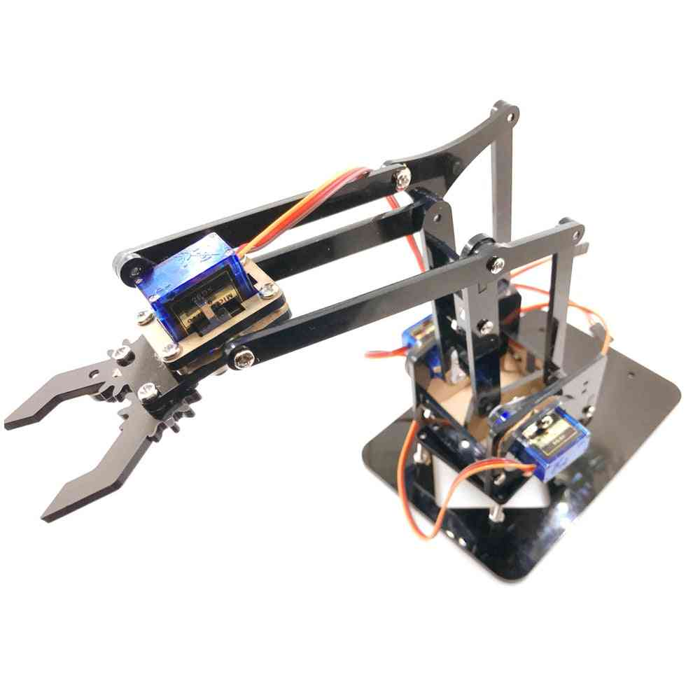 4 Dof Acrylic Robot Arm For Arduino Robotic Gripper Claw With Sg90 Servos
