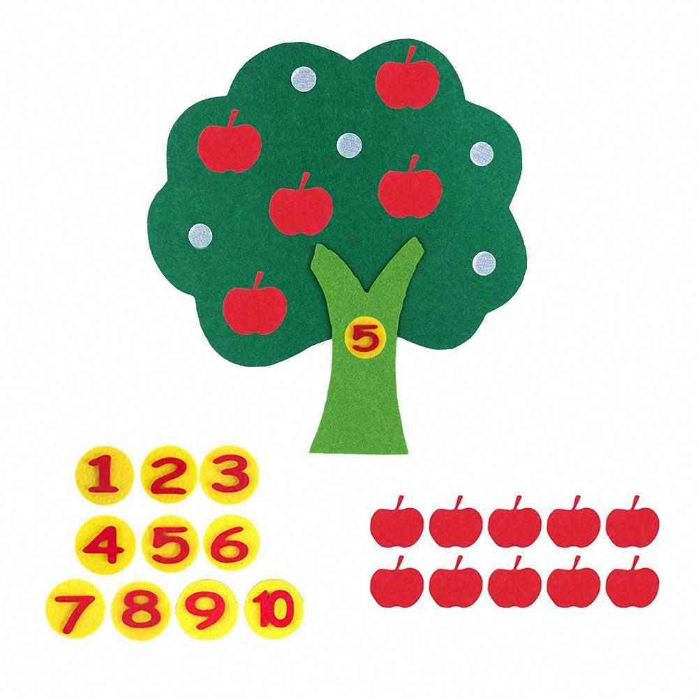Montessori Apple Trees Math Toy To Teach - Early Learning Education