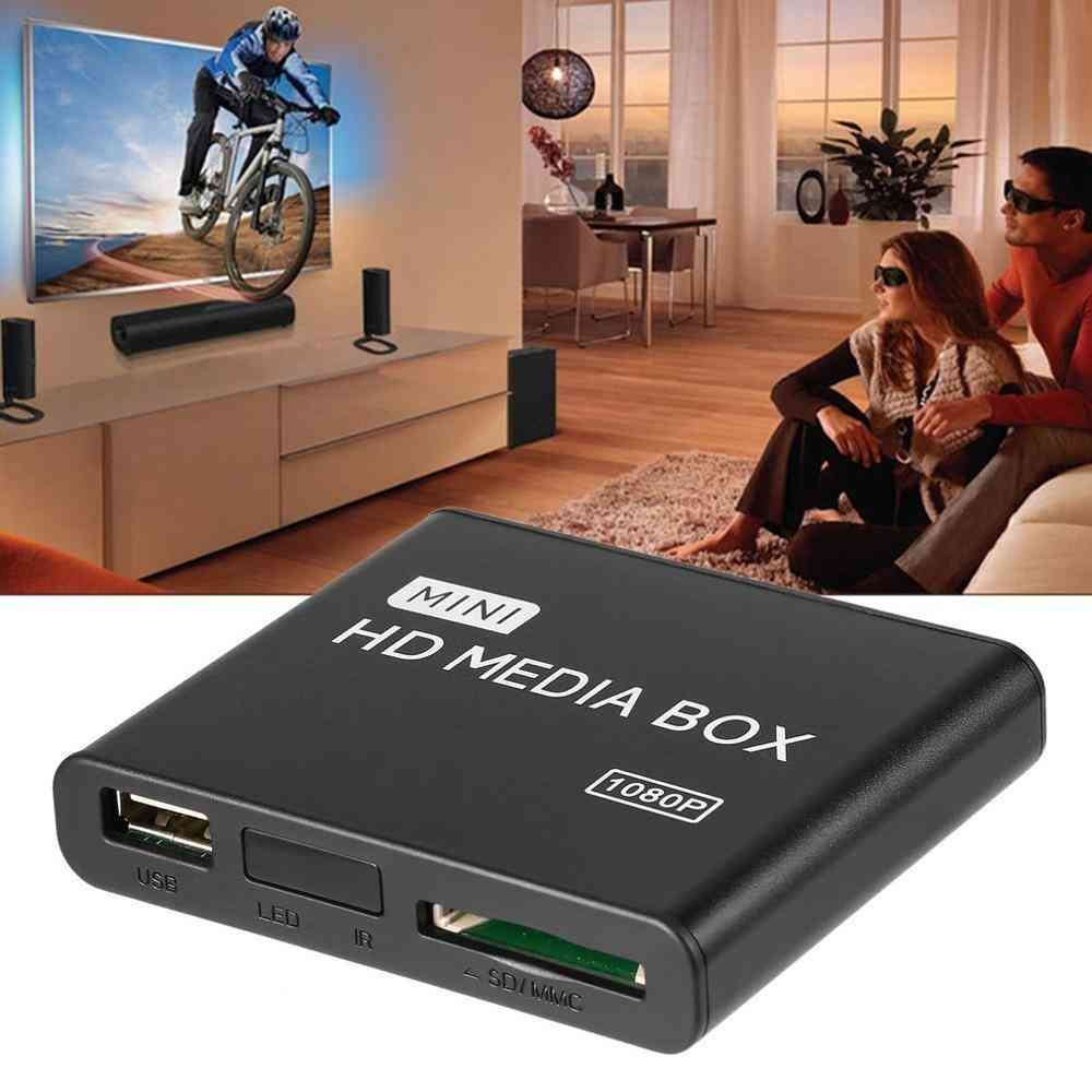 Mini Hdd Media Tv Box Video Multimedia Player - Full Hd With Sd Mmc, Card Reader