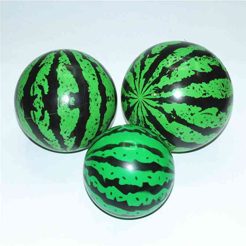 Creative Inflatable Ball Simulation Watermelon Rubber Ball Beach Pool Toy