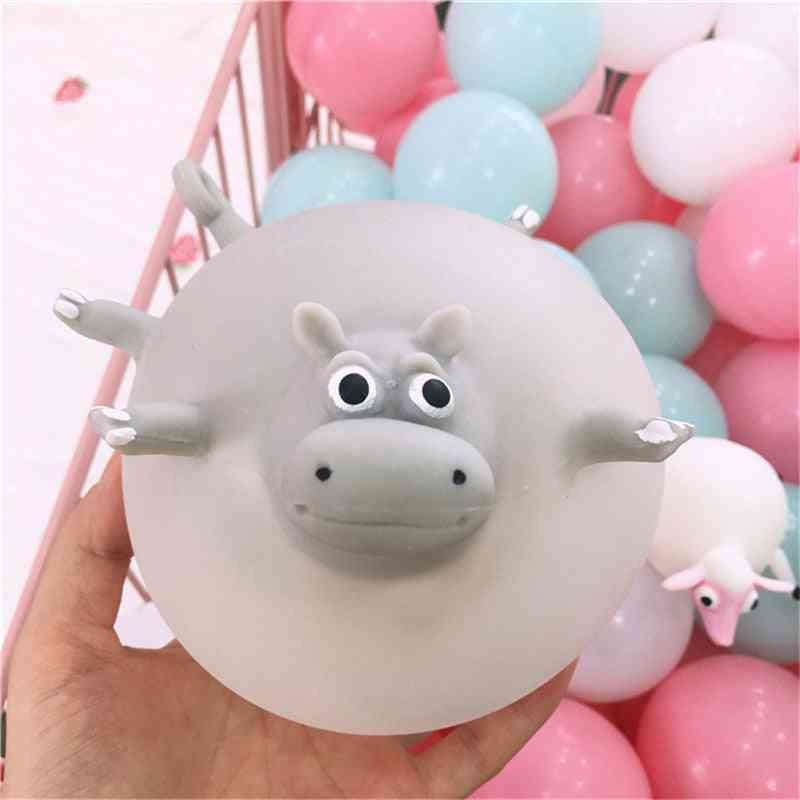Funny Squishy Tpr Blowing Animal Squeeze Anti-stress Soft Rubber Inflatable Games Ball For