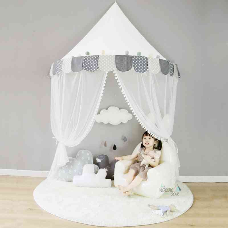 Cotton Foldable Tent Canopy Bed - Curtain Baby Crib Netting / Room Decoration