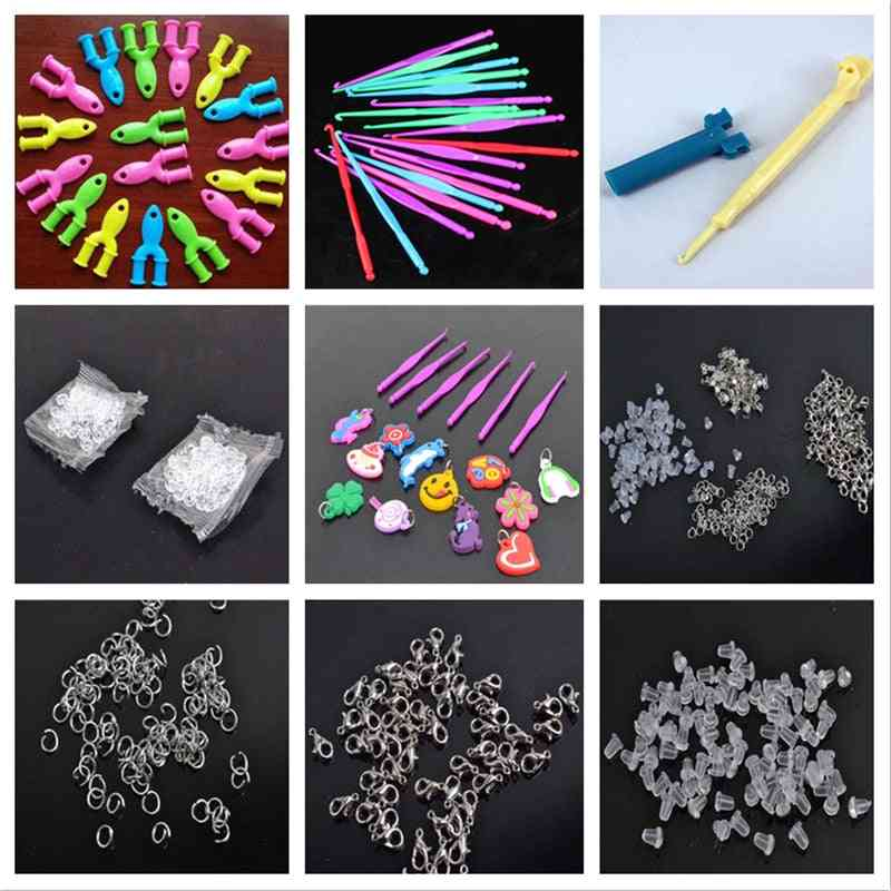 Diy Knit Tools For Making Rubber Band, Braceltes And Pendant