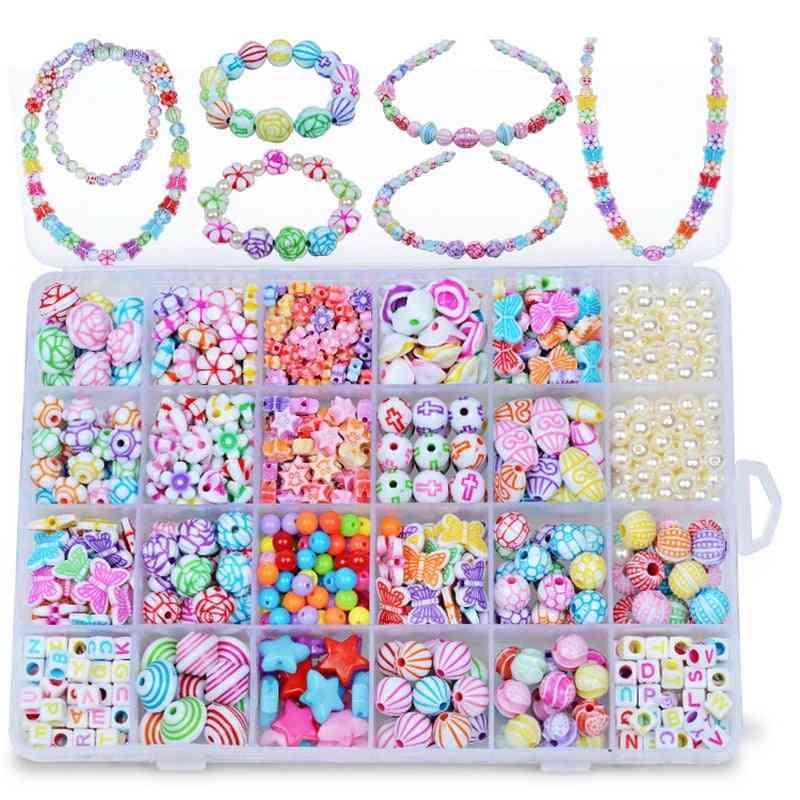 Plastic Pop Beads For Kids Jewelry Necklace Bracelet Headband Kit
