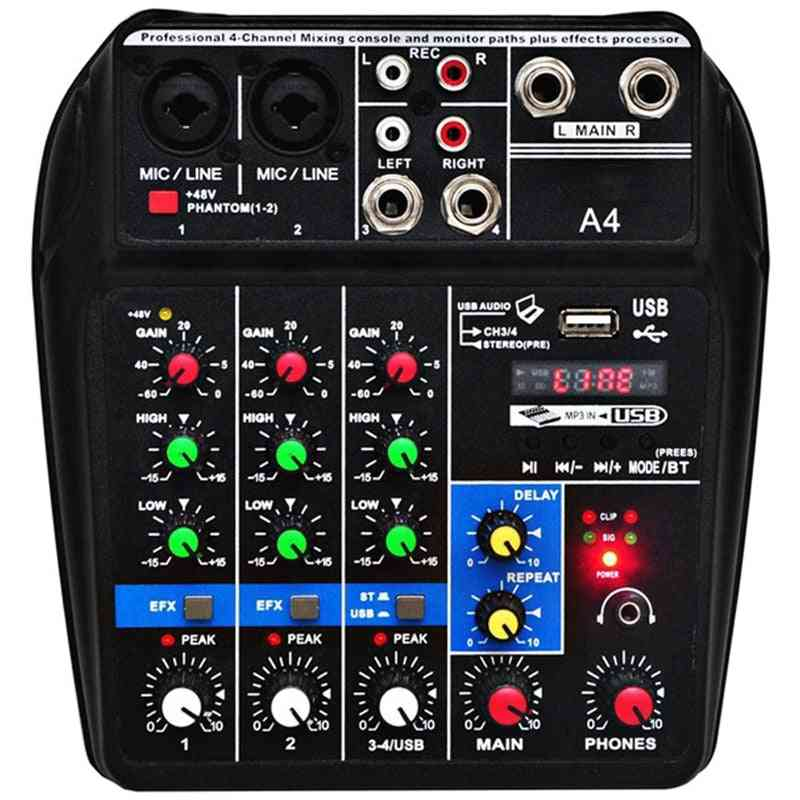 A4 Sound Mixing Console With Usb Cable And Power Adapter