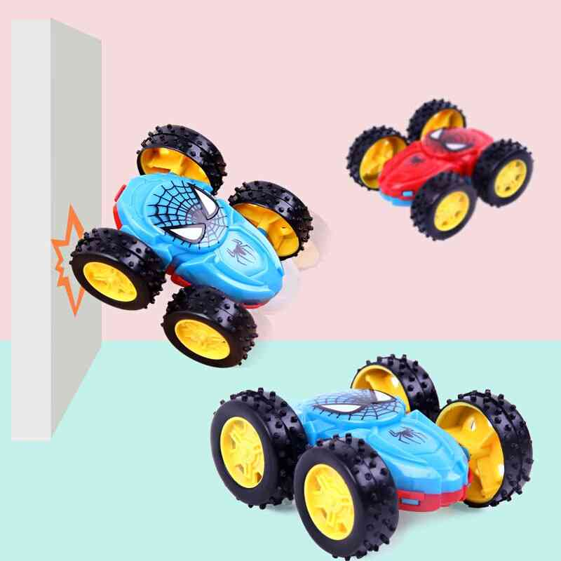 Mini Spiderman Double-sided Inertial - Dump Truck Car Classic Toy