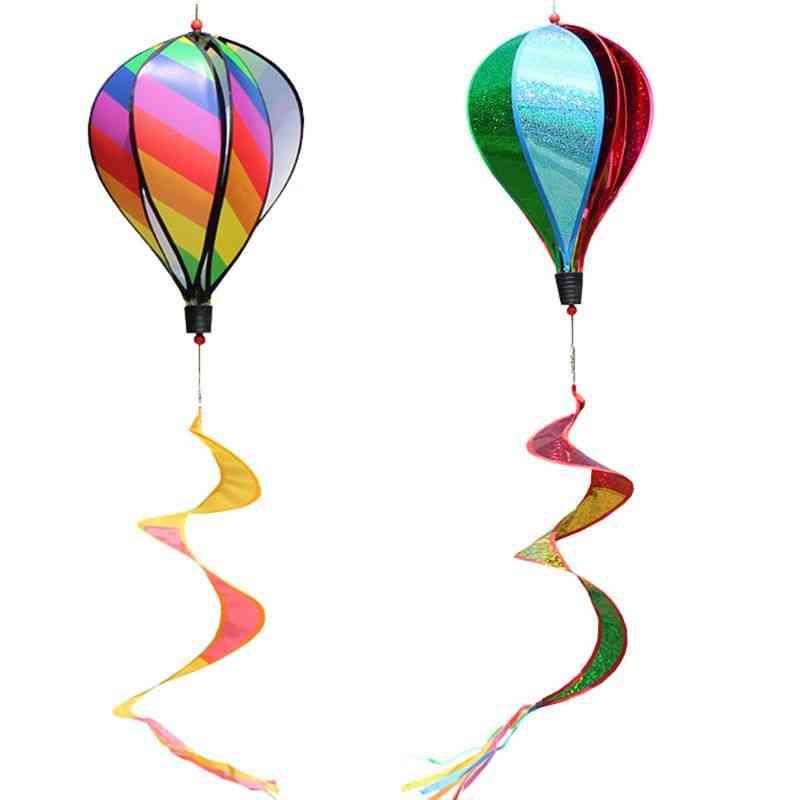 Hot Air Balloon Windmill Spinner For Garden Lawn Yard
