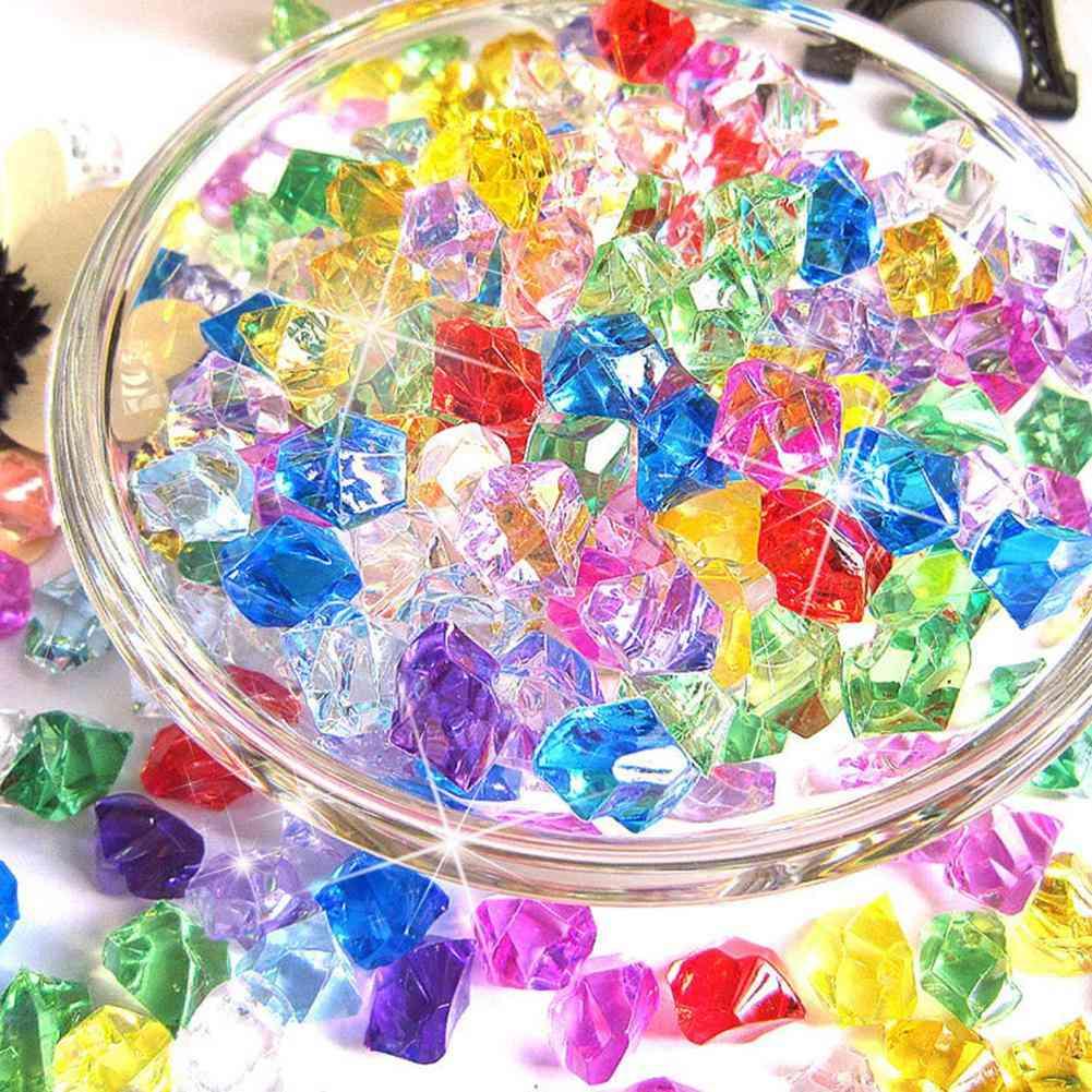 Acrylic Crystal Diamonds Plastic - Fish Tank Decoration Bare Stone