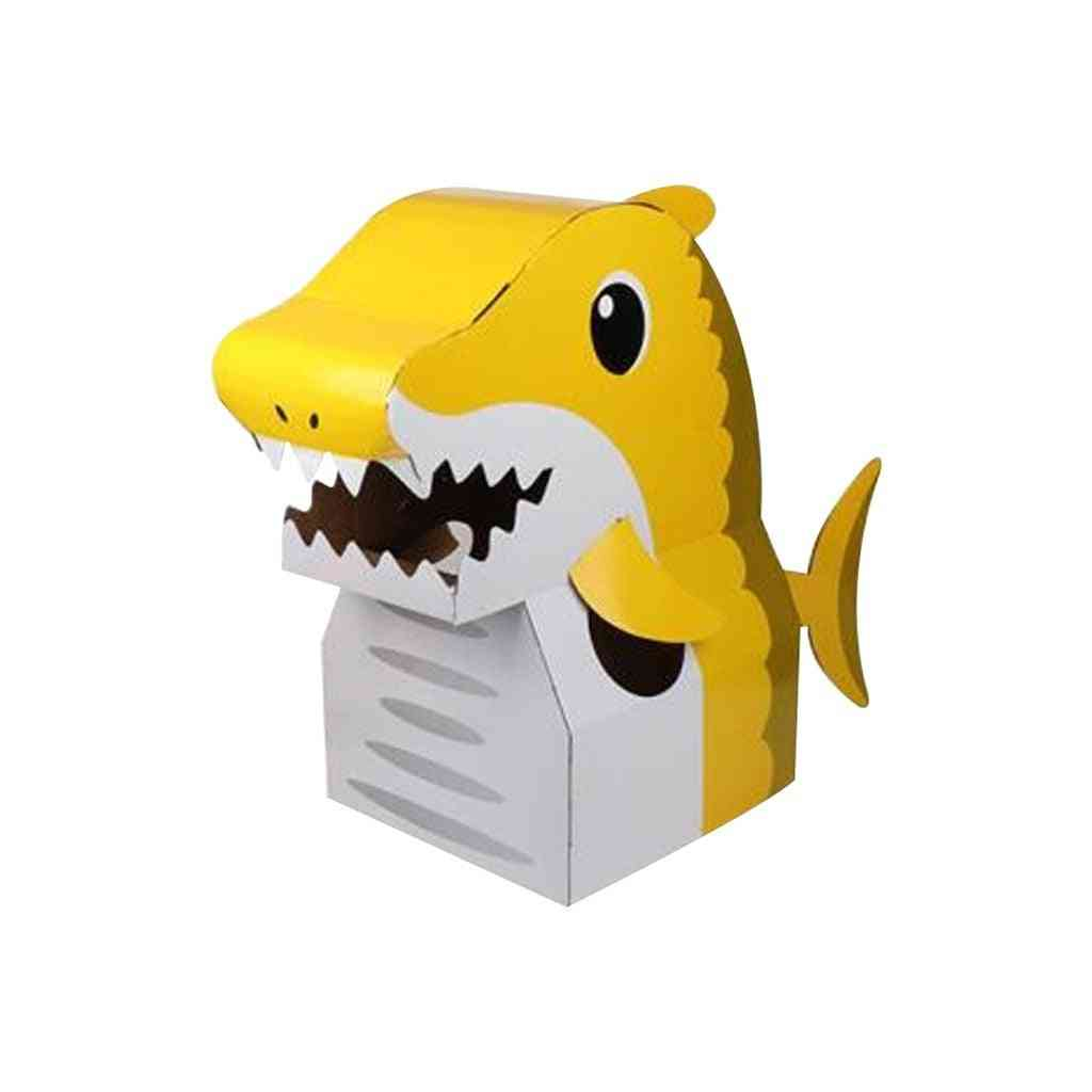 Children's Carton Toy - Paper Animal Can Wear Interaction Enhance Relationship