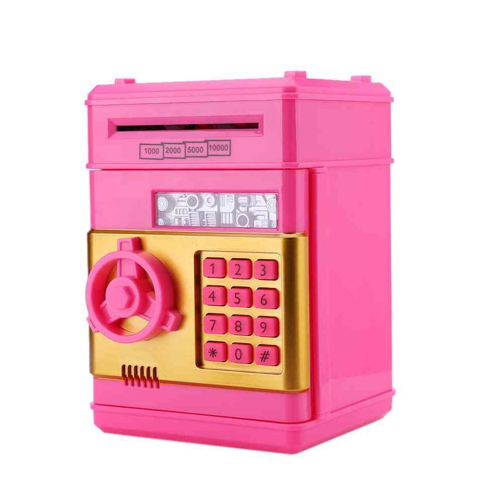 Electronic Piggy Bank - Atm Password Cash / Coins Safe Box Toy
