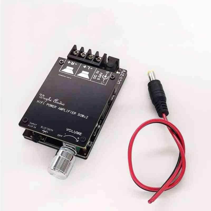 Bluetooth 5.0 Digital 50w+50w Tpa3116 - Audio Power Amp For Speakers,  Aux Amplifier Board