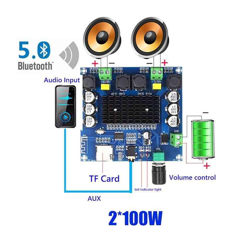 Bluetooth 5.0 Sound Amplifier-board Power Digital Stereo-receiver Amp Speaker