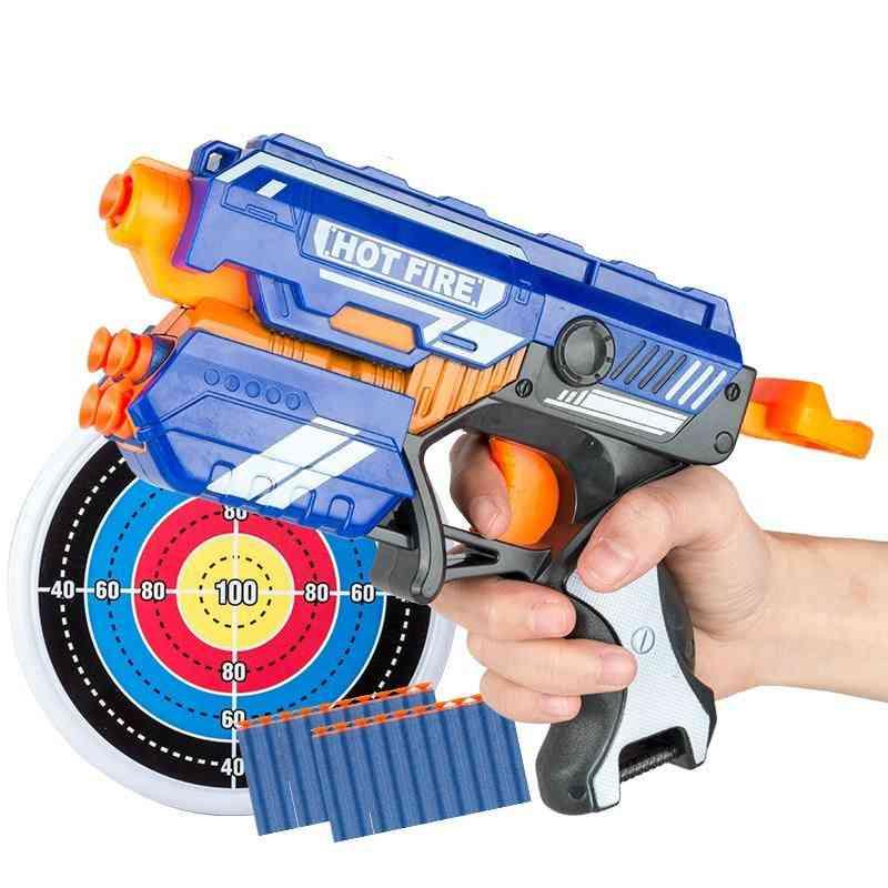 Manual Soft Bullet Gun Suit - Pistol Long Range Dart Blaster Kids