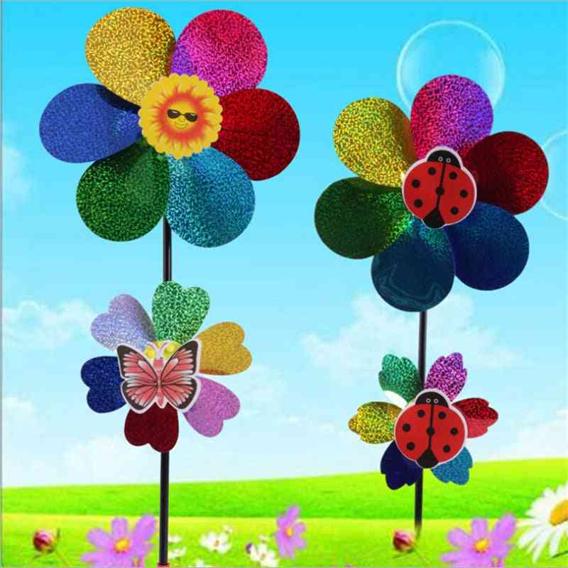 Colorful, Two In One Sequins Windmill For Home, Garden, Yard Decoration