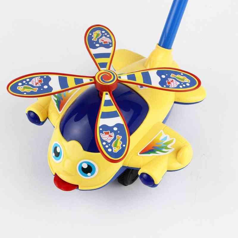 Hand Push & Pull Toddler Toy - Single Plastic Stroller For Motor Skills