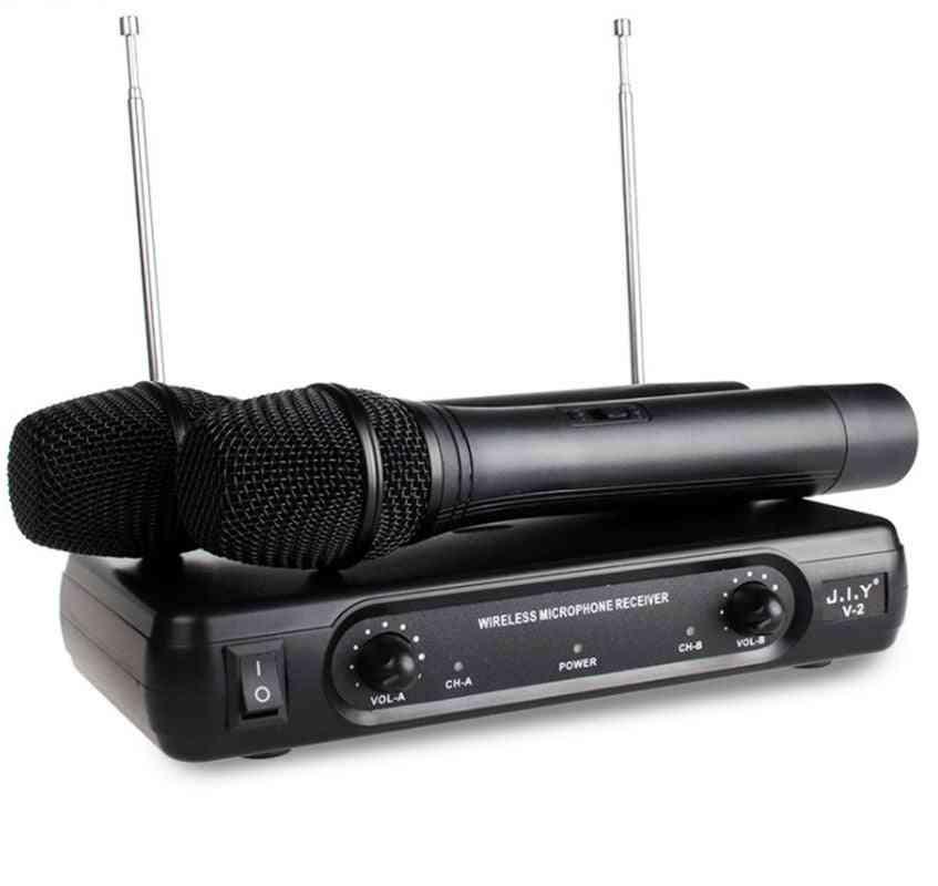 Handheld Wireless Karaoke Microphone & Player - Echo Mixer System
