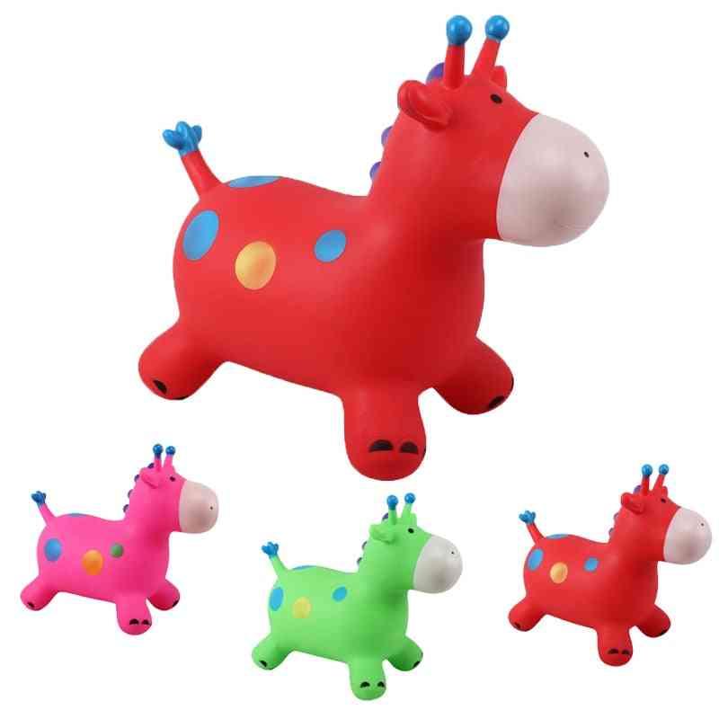 Animals Jumping Horse Riding Infantil Baby Kids Stick Funing Toys
