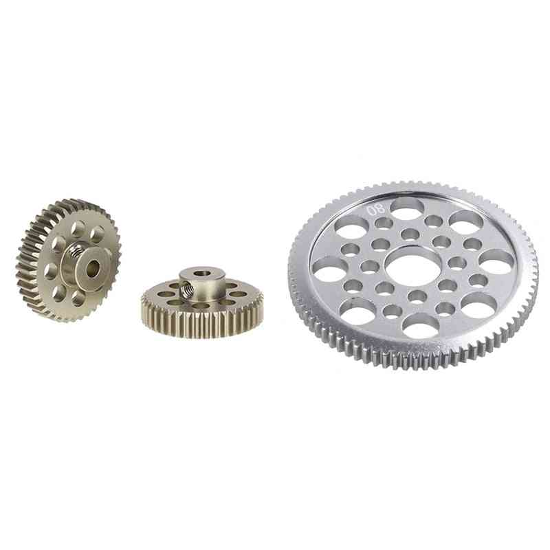 Motor Pinion, Spur Gear And Machine Screws For Remote Control Car