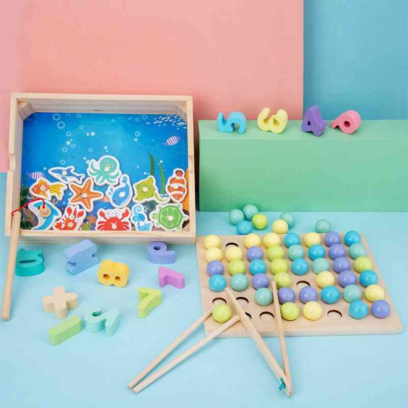 Wooden Jigsaw Puzzle Board Set For