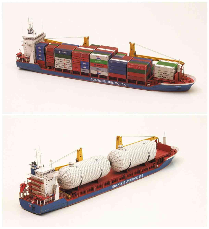 Diy Handcraft Paper Model Kit Handmade Toy Puzzles - Gdansk Cargo Ship