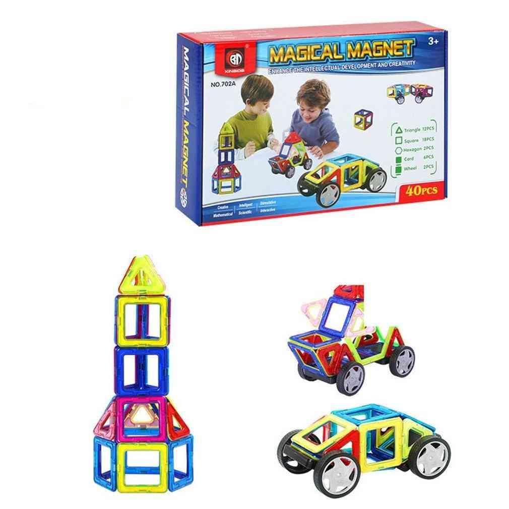 Magnetic Piece English Set-'s Educational Assembled Building Blocks