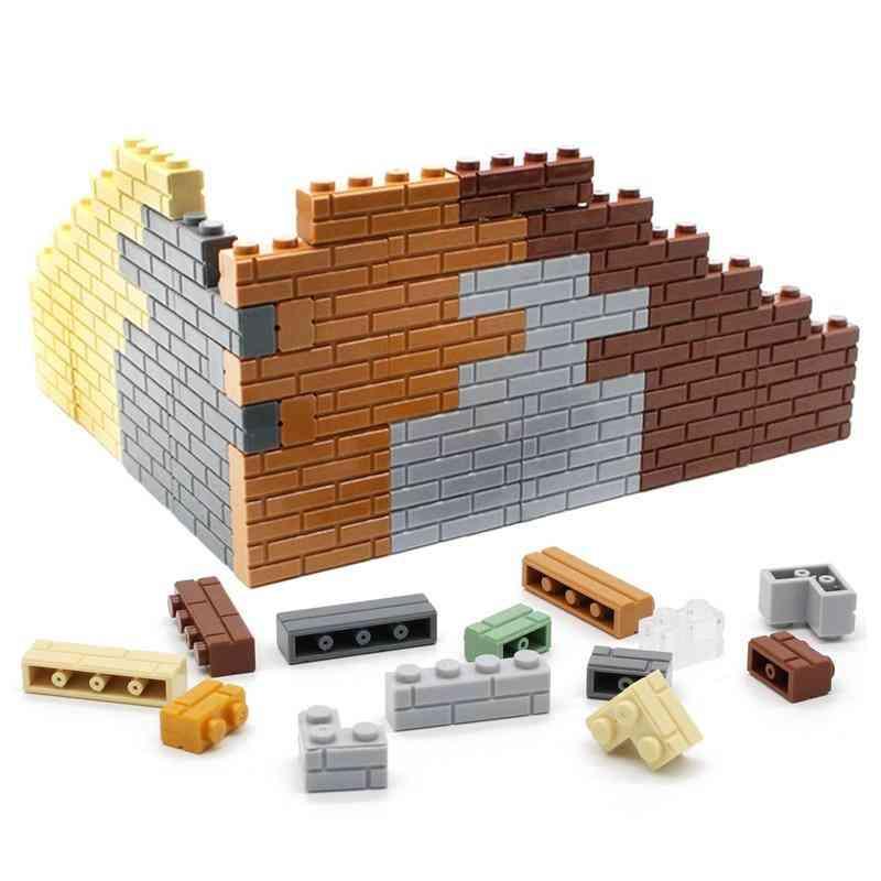 4 Dots Houses Wall Building Blocks - Micro Cube Parts