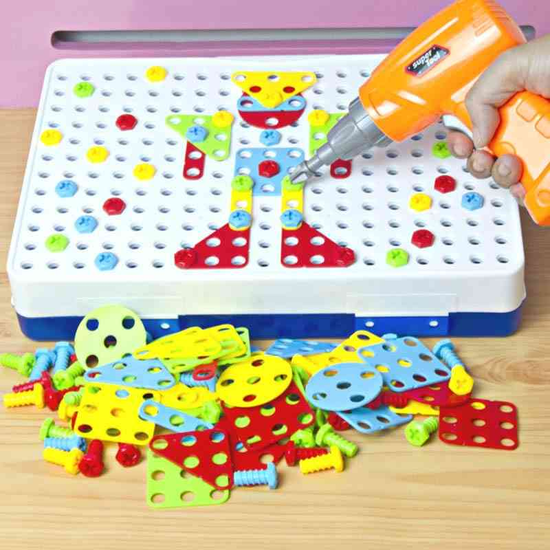 Electric Drill Nut Disassembly Match Tool, Educational ,blocks Sets Toy