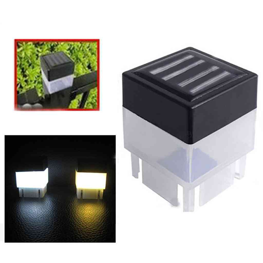 Solar Powered Fence Post Led - Outdoor Led Square Light
