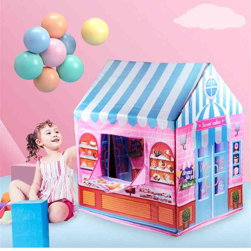 Game House Play Tent Girl Princess Indoor Outdoor, Secret Garden Play Ball Pit Pool Toy