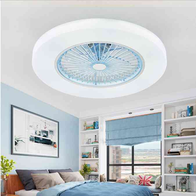 72w Led Dimming Remote Control Ceiling Fans Lamp