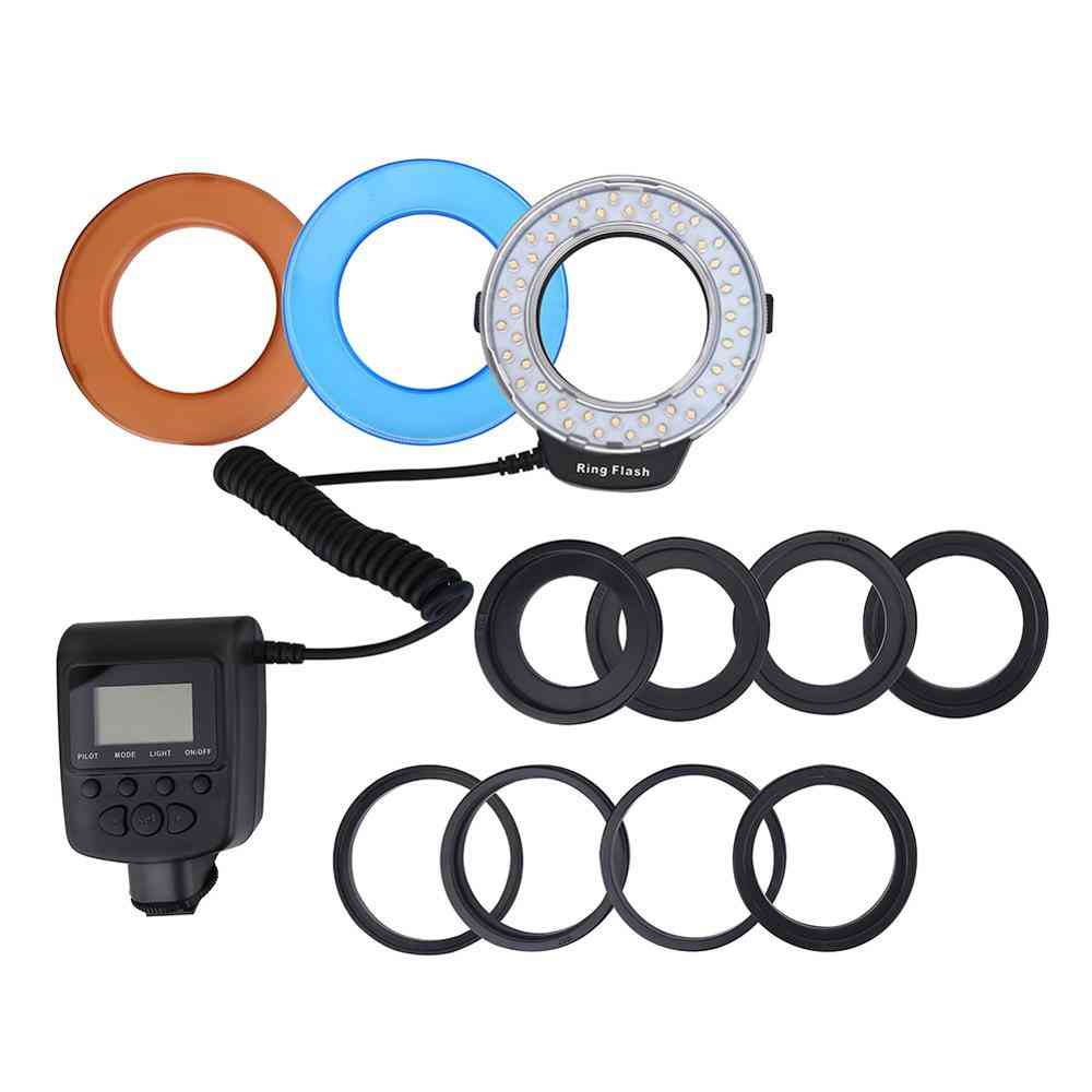 Professional Macro Led Ring Light With 8 Adapter For Dslr Camera