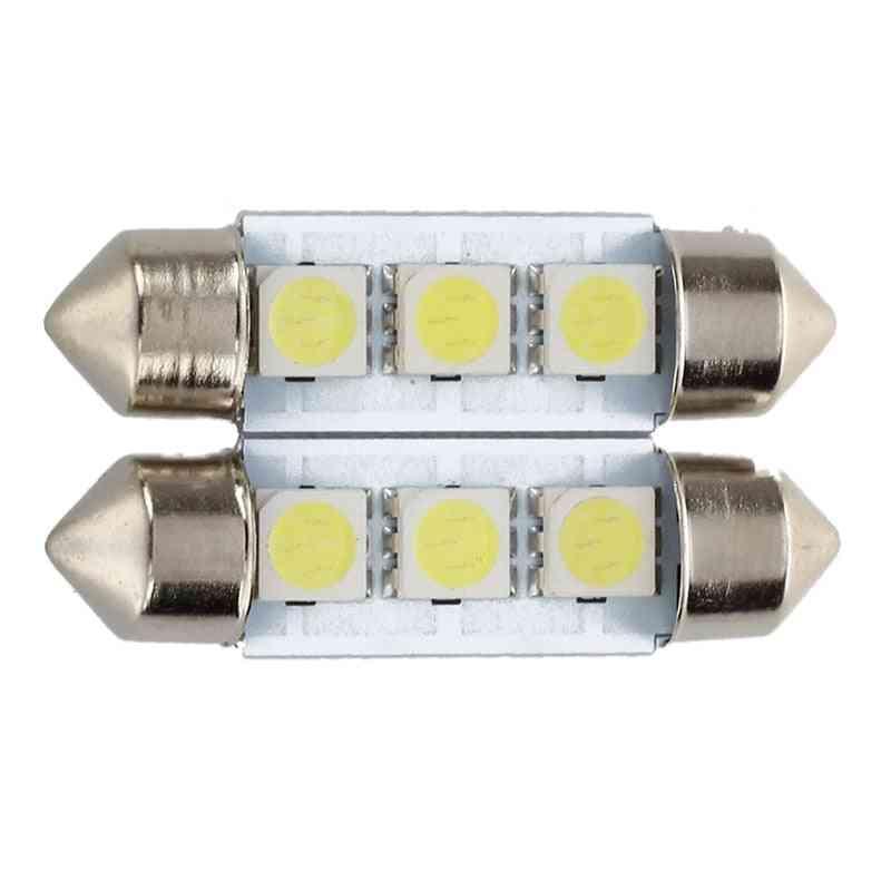 36mm White Bulb Plate Shuttle Festoons Dome Ceiling Lamp