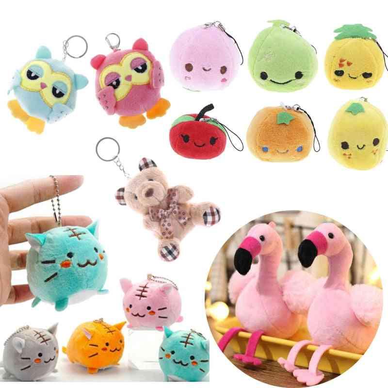 Mini Cute Fruit Soft Stuffed Plush Toy - Keychain, Pendant