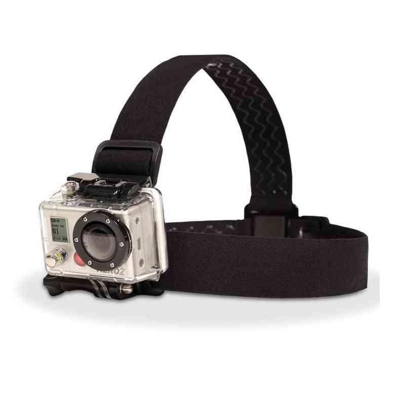 Elastic Adjustable, Harness Head Strap Mount Belt For Gopro Hd Hero 1/2/3/4/5/6/7 Sjcam Black Action Camera Accessories