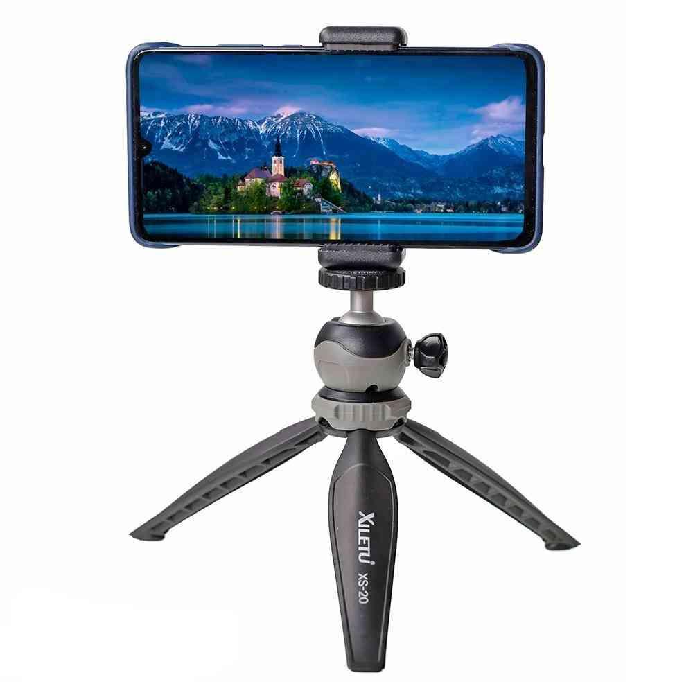 Lightweight Mini Tripod For Vlog Camera, Smart Phone With Detachable Ball Head
